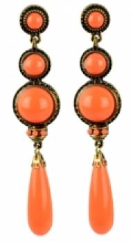 Flamenco Ohrringe orange